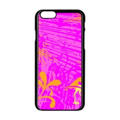 Spring Tropical Floral Palm Bird Apple Iphone 6/6s Black Enamel Case