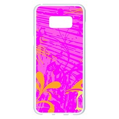 Spring Tropical Floral Palm Bird Samsung Galaxy S8 Plus White Seamless Case