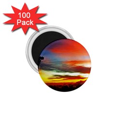 Sunset Mountain Indonesia Adventure 1 75  Magnets (100 Pack)
