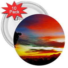 Sunset Mountain Indonesia Adventure 3  Buttons (10 Pack)
