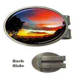 Sunset Mountain Indonesia Adventure Money Clips (oval)
