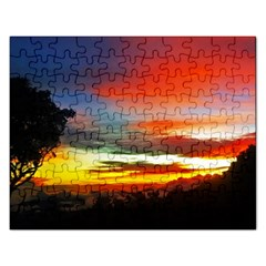 Sunset Mountain Indonesia Adventure Rectangular Jigsaw Puzzl