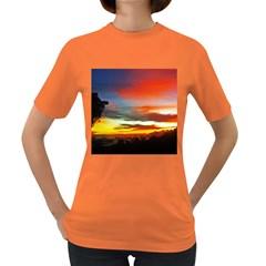 Sunset Mountain Indonesia Adventure Women s Dark T Shirt