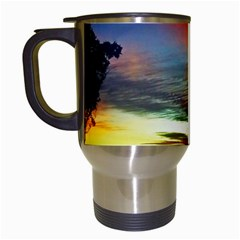 Sunset Mountain Indonesia Adventure Travel Mugs (white)