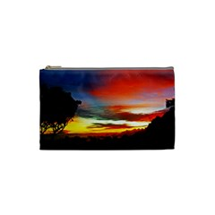Sunset Mountain Indonesia Adventure Cosmetic Bag (small)