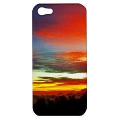 Sunset Mountain Indonesia Adventure Apple Iphone 5 Hardshell Case