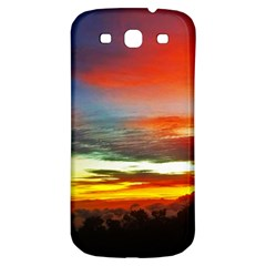 Sunset Mountain Indonesia Adventure Samsung Galaxy S3 S Iii Classic Hardshell Back Case