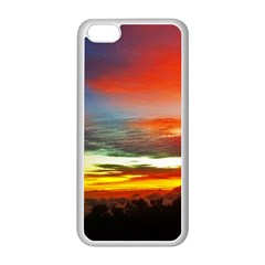 Sunset Mountain Indonesia Adventure Apple Iphone 5c Seamless Case (white)