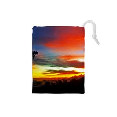 Sunset Mountain Indonesia Adventure Drawstring Pouches (small)