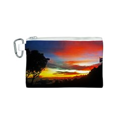 Sunset Mountain Indonesia Adventure Canvas Cosmetic Bag (s)