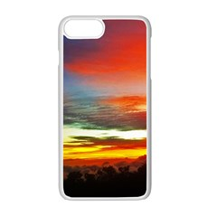 Sunset Mountain Indonesia Adventure Apple Iphone 7 Plus Seamless Case (white)