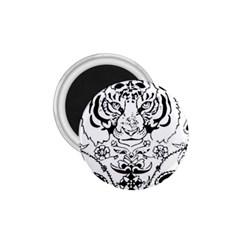 Tiger Animal Decoration Flower 1 75  Magnets