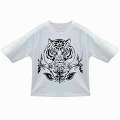 Tiger Animal Decoration Flower Infant/toddler T Shirts