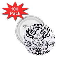 Tiger Animal Decoration Flower 1 75  Buttons (100 Pack)