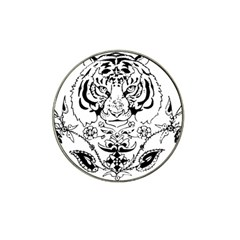 Tiger Animal Decoration Flower Hat Clip Ball Marker