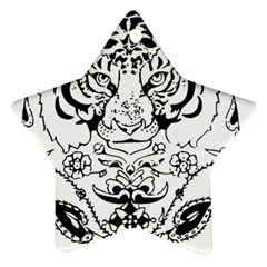 Tiger Animal Decoration Flower Star Ornament (two Sides)