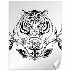 Tiger Animal Decoration Flower Canvas 18  X 24