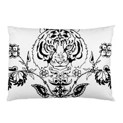 Tiger Animal Decoration Flower Pillow Case