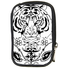 Tiger Animal Decoration Flower Compact Camera Cases
