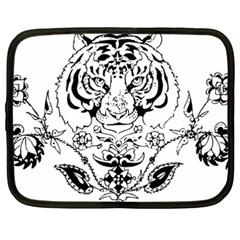 Tiger Animal Decoration Flower Netbook Case (xxl)