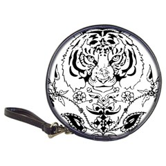 Tiger Animal Decoration Flower Classic 20 Cd Wallets
