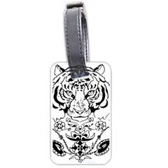 Tiger Animal Decoration Flower Luggage Tags (two Sides)