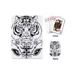 Tiger Animal Decoration Flower Playing Cards (mini)