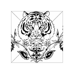 Tiger Animal Decoration Flower Acrylic Tangram Puzzle (4  X 4 )