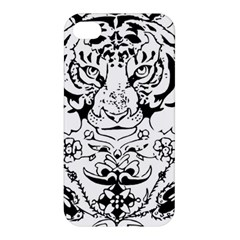 Tiger Animal Decoration Flower Apple Iphone 4/4s Premium Hardshell Case