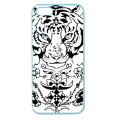 Tiger Animal Decoration Flower Apple Seamless Iphone 5 Case (color)