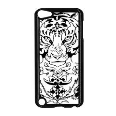 Tiger Animal Decoration Flower Apple Ipod Touch 5 Case (black)