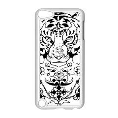 Tiger Animal Decoration Flower Apple Ipod Touch 5 Case (white)