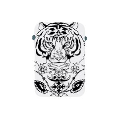 Tiger Animal Decoration Flower Apple Ipad Mini Protective Soft Cases