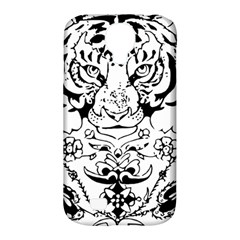 Tiger Animal Decoration Flower Samsung Galaxy S4 Classic Hardshell Case (pc+silicone)