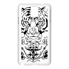 Tiger Animal Decoration Flower Samsung Galaxy Note 3 N9005 Case (white)