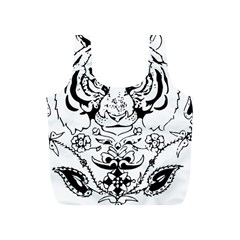 Tiger Animal Decoration Flower Full Print Recycle Bags (s)