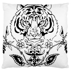 Tiger Animal Decoration Flower Standard Flano Cushion Case (two Sides)