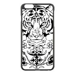 Tiger Animal Decoration Flower Apple Iphone 6 Plus/6s Plus Black Enamel Case