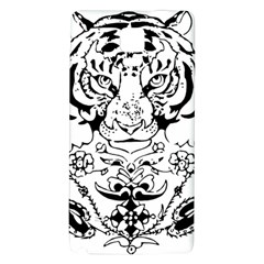 Tiger Animal Decoration Flower Galaxy Note 4 Back Case