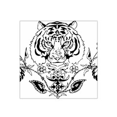 Tiger Animal Decoration Flower Satin Bandana Scarf