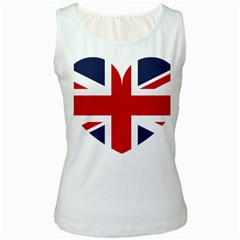 Uk Flag United Kingdom Women s White Tank Top