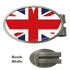 Uk Flag United Kingdom Money Clips (oval)