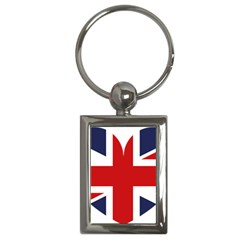 Uk Flag United Kingdom Key Chains (rectangle)