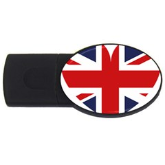 Uk Flag United Kingdom Usb Flash Drive Oval (2 Gb)