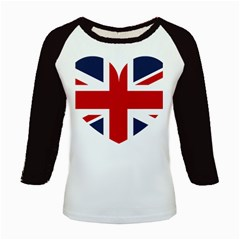 Uk Flag United Kingdom Kids Baseball Jerseys