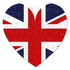 Uk Flag United Kingdom Jigsaw Puzzle (heart)
