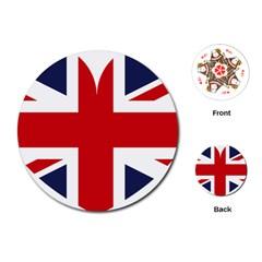 Uk Flag United Kingdom Playing Cards (round)