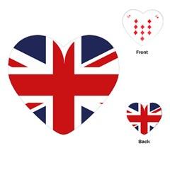 Uk Flag United Kingdom Playing Cards (heart)