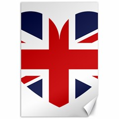 Uk Flag United Kingdom Canvas 24  X 36