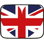 Uk Flag United Kingdom Fleece Blanket (Mini) 35 x27 Blanket